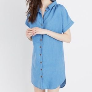 Madewell Dresses - Madewell Indigo Central Shirtdress in Blue